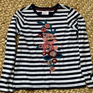 Hanna Andersson long sleeve flower top size 140